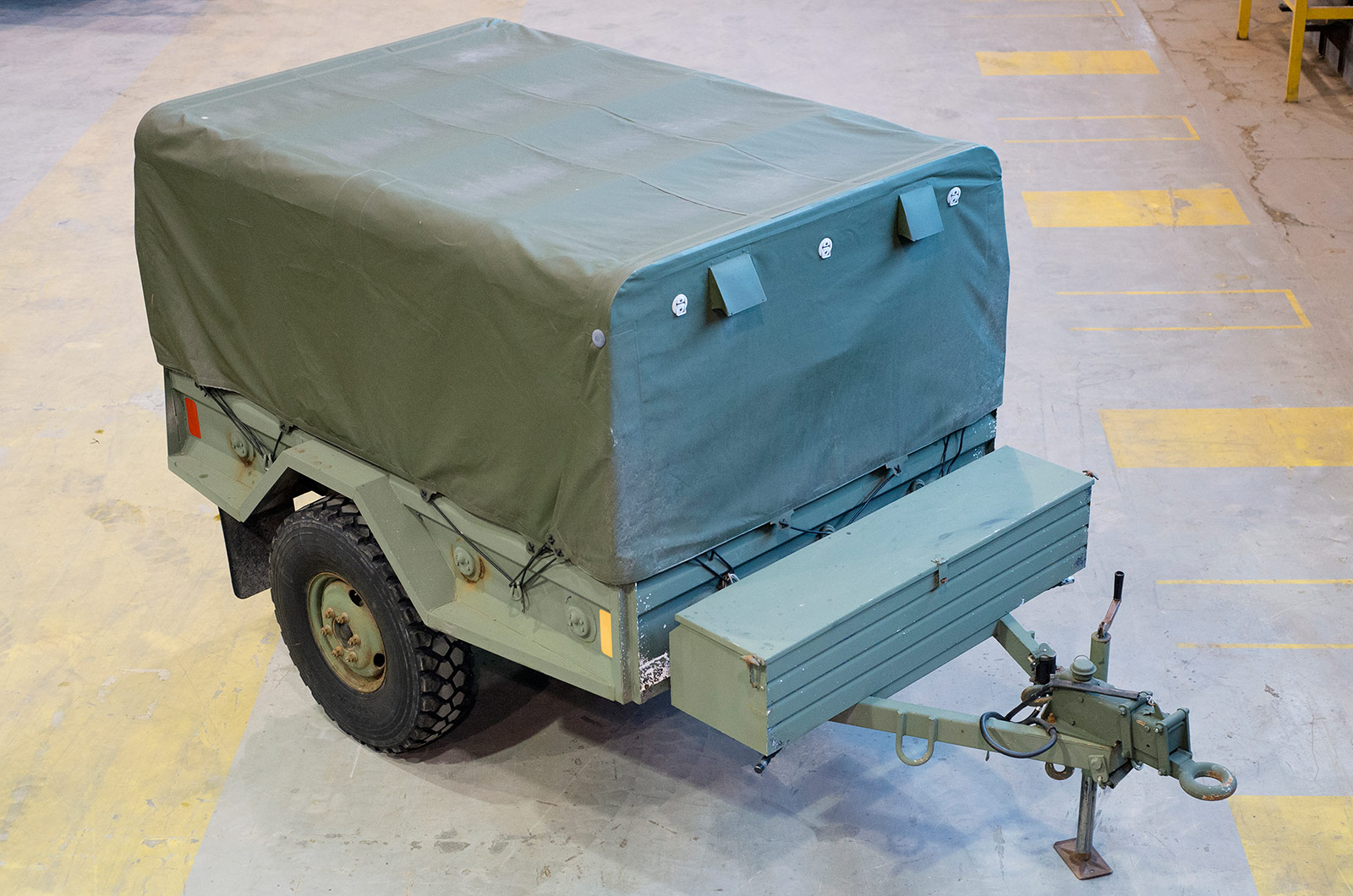 DEW-designed and manufactured military trailer.