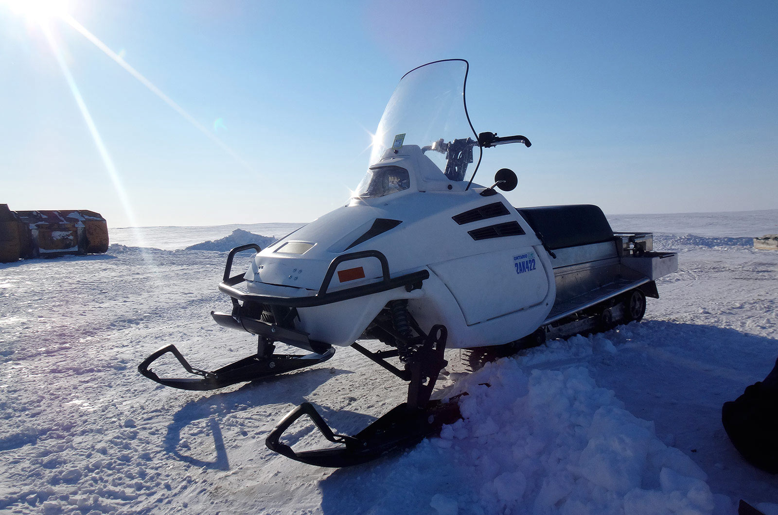 DEW D900 Snowmobile in the Arctic