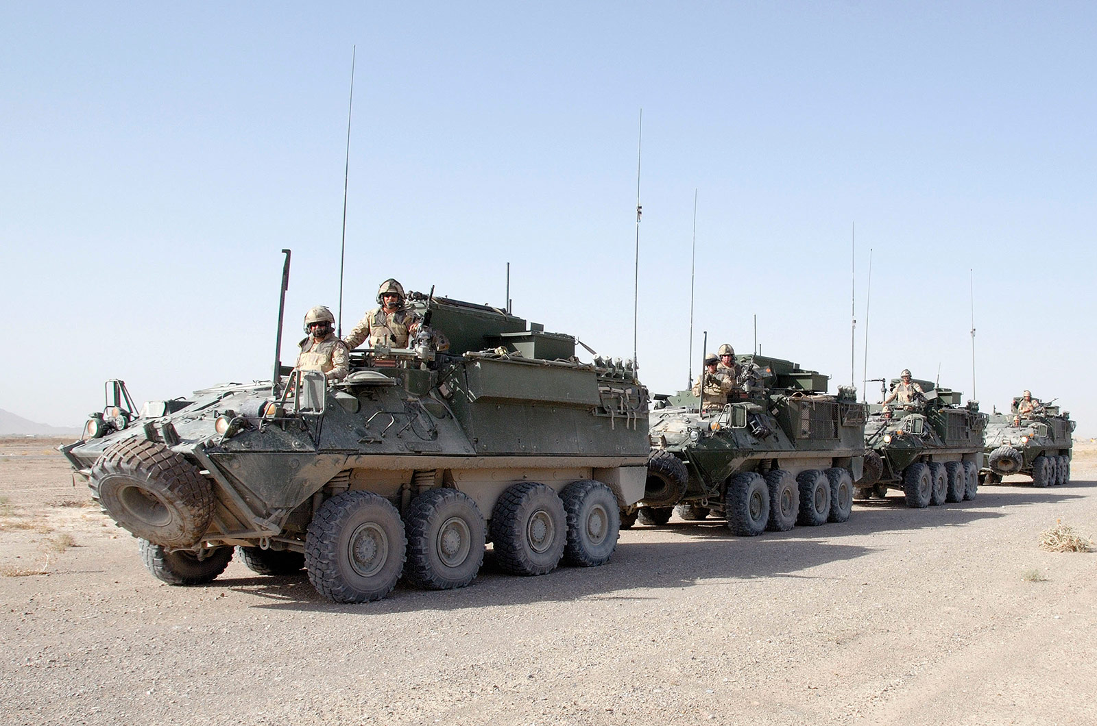 Add-on Armour -Canadian Army LAV II Bisons in Afghanistan