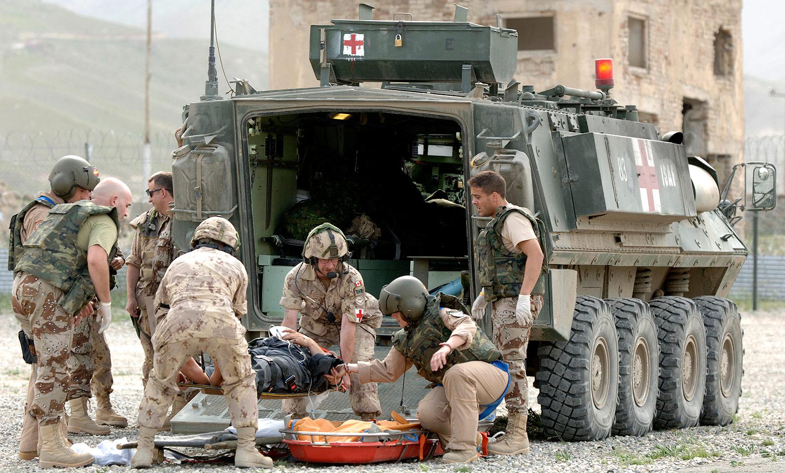 Bison Ambulance in Afghanistan